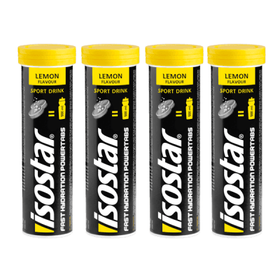Packshot_Isostar_Powertabs_4x_Lemon_boisson-sportive