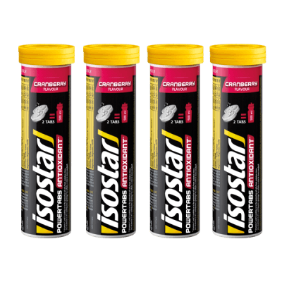 Packshot_Isostar_Powertabs_4x_Cranberry_boisson-sportive