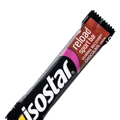 Packshot_Isostar Reload After Sport Barre_Chocolat_proteinée
