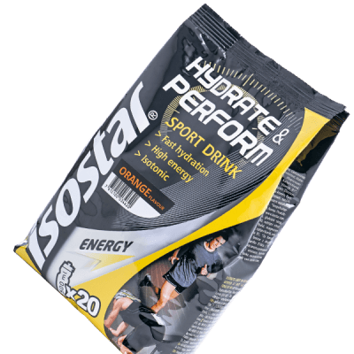 Packshot_Isostar_Hydrate&Perform Pulver_Orange_Sportgetränk